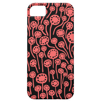 090512 Tropical Pink on Black iPhone 5 Cover