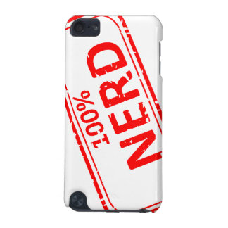 100% Nerd Rubber-stamp Red on White iPod Touch (5th Generation) Case