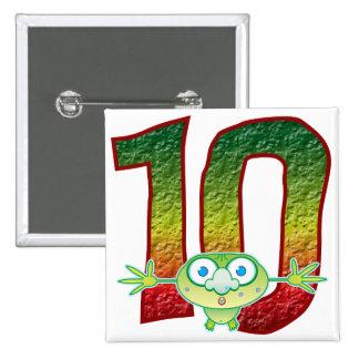 10 Age Ghoul 15 Cm Square Badge