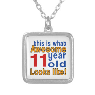 11 year old looks like square pendant necklace