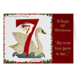 12 Days of Christmas Seven Swans A Swimming Greeting Card