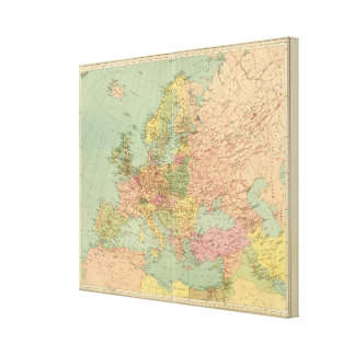 1314 Political Europe Stretched Canvas Print