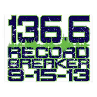 136.6 Record Breaker Postcard
