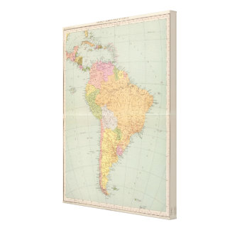 15152 South America political Stretched Canvas Print