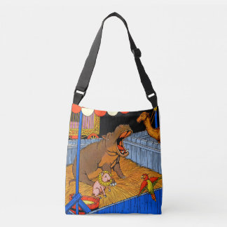 1930s crying hippopotamus and friends tote bag
