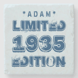 1935 or Any Year Birthday Limited Edition 80th V2Z Stone Beverage Coaster