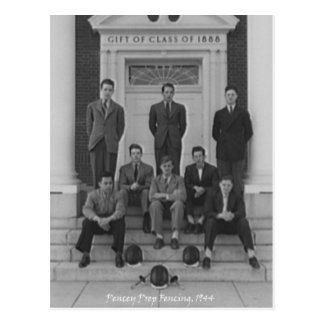 1945 Fencing Team Postcard