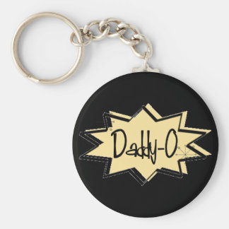 1950s Dad **DADDY-0** Basic Round Button Key Ring