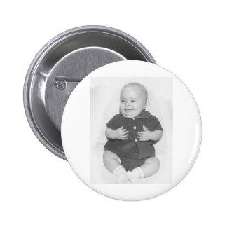 1950's Portrait of Baby Boy 6 Cm Round Badge