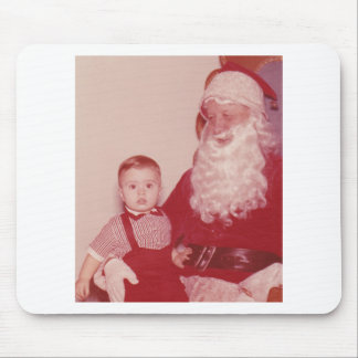 1960's Little Boy and Santa Mouse Pad