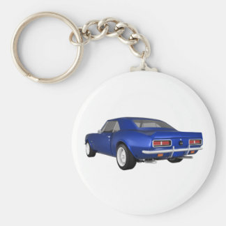 1967 Camaro SS: Blue Finish: 3D Model: Basic Round Button Key Ring