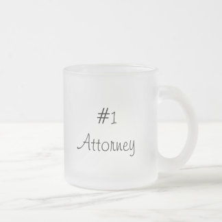 #1 Attorney-Mug Frosted Glass Mug