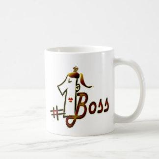 #1 boss basic white mug