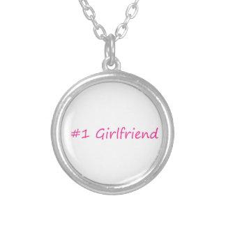 #1 Girlfriend Round Pendant Necklace
