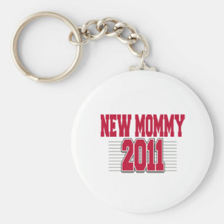 2011 Funny New Mom Basic Round Button Key Ring