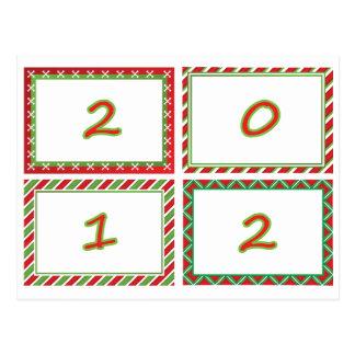 2012 festive New Year frames Postcard