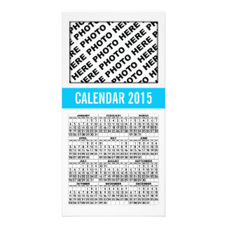 2015 Calendar Photo Card Blue Line