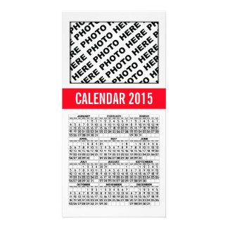 2015 Calendar Photo Card Red Line