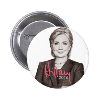 2016 Hillary Clinton for President - Autograph 6 Cm Round Badge