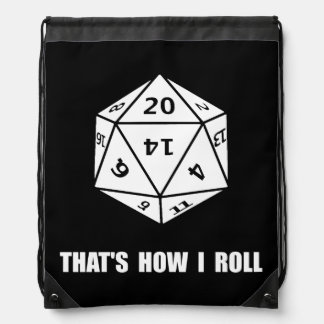 20 Sided Dice Roll Drawstring Bags