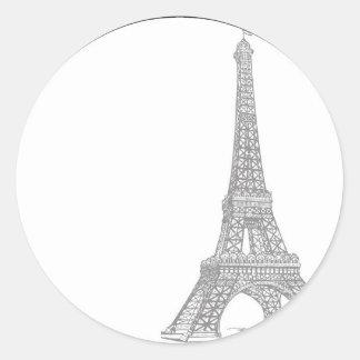20 Wedding in Paris Envelope Seal Round Sticker