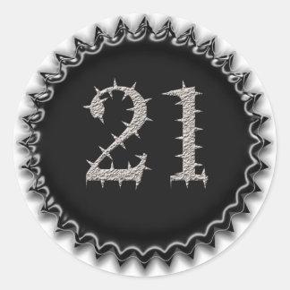 21st Vegas Birthday Round Sticker