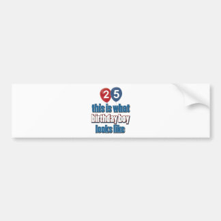 25th birthday designs bumper sticker