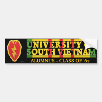 25th Inf. Div - U of South Vietnam Alumnus Sticker Bumper Sticker