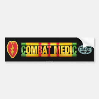 25th Inf. Div. Vietnam COMBAT MEDIC Sticker Bumper Sticker