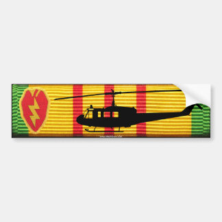 25th Infantry Div. UH-1 Huey VSM Bumper Sticker