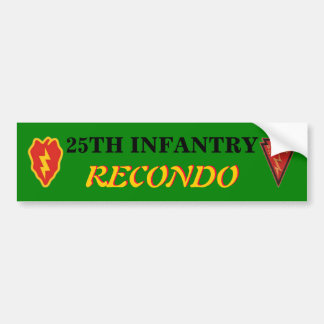25TH INFANTRY RECONDO BUMPER STICKER