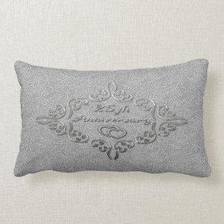 25th Silver Wedding Anniversary Lumbar Pillow Cushions