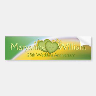 25th Wedding Anniversary Party Decoration Bumper Sticker