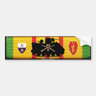 2/22nd Inf, 25th Inf Div Track & Insignia VSM Bumper Sticker