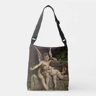 2 retro cupids sitting tote bag