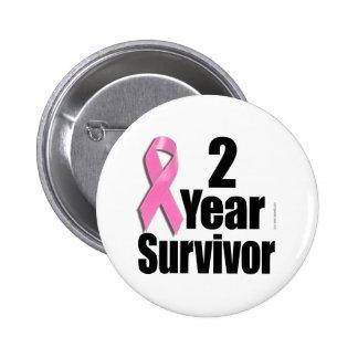 2 Year Breast Cancer Survivor 6 Cm Round Badge