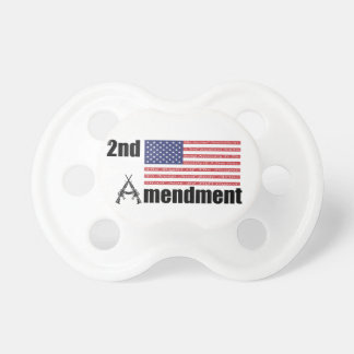 2nd Amendment AR Rifles A and Flag Pacifiers
