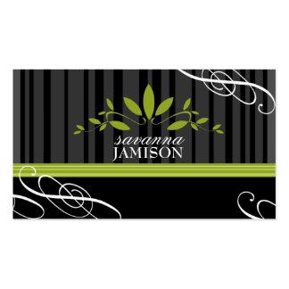 311-FRESH GARLAND BLACK PACK OF STANDARD BUSINESS CARDS
