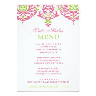 311 Mon Cherie Damask Honeysuckle Lime 13 Cm X 18 Cm Invitation Card