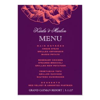 311 Ruffled Peony Coral Melon Purple 13 Cm X 18 Cm Invitation Card
