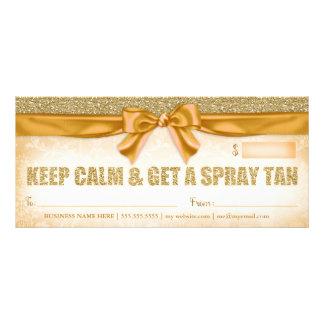 311 Spray Tan Gift Certificate Personalised Rack Card
