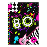 311 Totally the 80s Party 13 Cm X 18 Cm Invitation Card