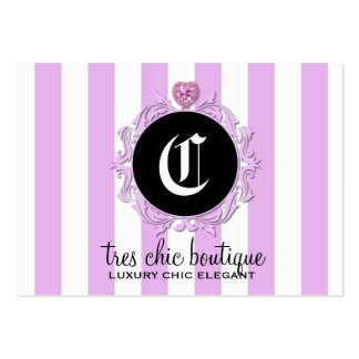 311 Tres Chic Lavender Stripes Pack Of Chubby Business Cards