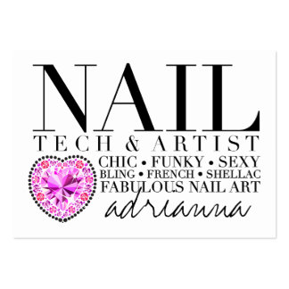 311 Tres Chic Nail Tech Diamond Heart Pack Of Chubby Business Cards