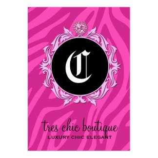 311 Tres Chic Pink Zebra Stripes Pack Of Chubby Business Cards