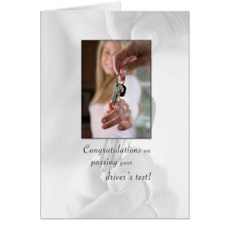 3715 Congratulations Passing Drivers License Greeting Card