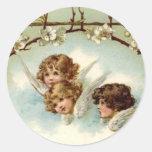 3 Angels Under Flower Arch - Sticker