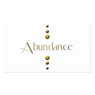 3 Dot Gold Block Abundance Pack Of Standard Business Cards