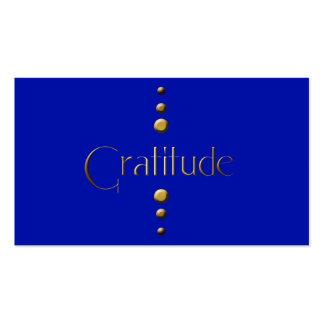 3 Dot Gold Block Gratitude & Blue Background Pack Of Standard Business Cards