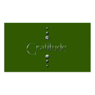 3 Dot Silver Block Gratitude & Green Background Pack Of Standard Business Cards